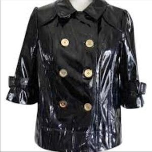 Juicy couture patent leather rain coat. small.